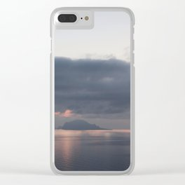 sunrise over the sea, sicily Clear iPhone Case