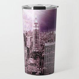 New New York : Galaxy City Dark Mauve Travel Mug