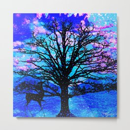 TREES AND STARS Metal Print