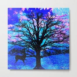 TREES AND STARS Metal Print