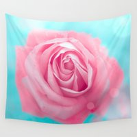rose Wall Tapestries featuring Rose  by Loredana:Flowers
