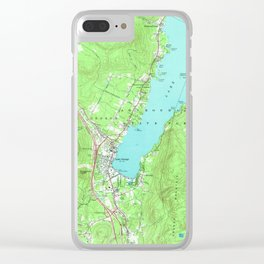Vintage Map of Lake George New York (1966) Clear iPhone Case