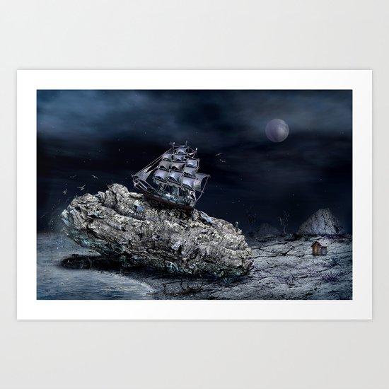 aground Art Print