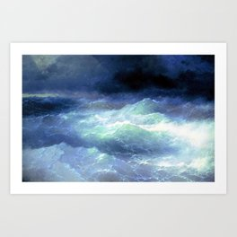 Among the waves- I. Aivazovsky Art Print