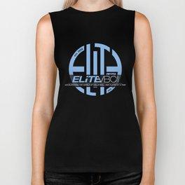 Elite Powder/Black w/ Badge Logo Biker Tank