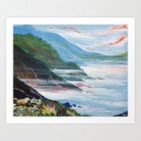big sur Art Prints featuring Big Sur by Laura Hol Art