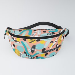 CIRCLES IN MOTION - peach/ yellow/ mint Fanny Pack