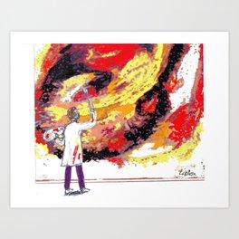 BACH: St Mathew's Passion         by  Kay Lipton Art Print