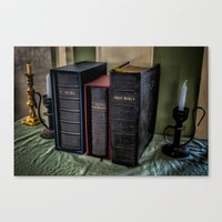 bible Canvas Prints featuring The Bible by Adrian Evans