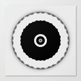 Simple Circles Black an White Canvas Print