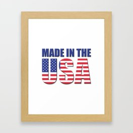 Made In The USA - Patriot/Independence Day Framed Art Print