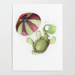 Falling Tortoise Poster