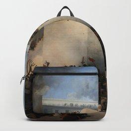 Francesco Hayez - The destruction of the Temple of Jerusalem Backpack