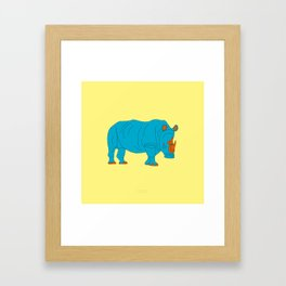 NÆSEHORN Framed Art Print