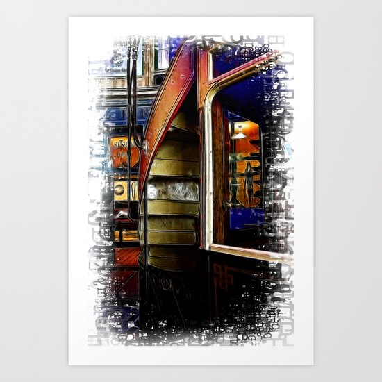 Upstairs Only Art Print