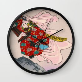 Tsukioka Yoshitoshi - Top Quality Art - USHIWAKAMARU Wall Clock