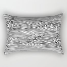 Black lines on white background 2 Rectangular Pillow