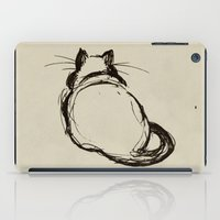 fat iPad Cases featuring Fat Cat by Julie Viens