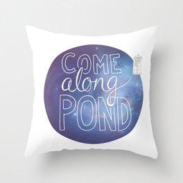 Come Along Pond Throw Pillow