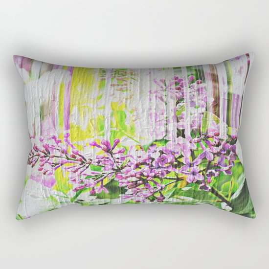 White Washed Painted Lilac Rectangular Pillow