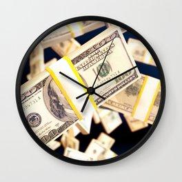 Flying dollars Wall Clock