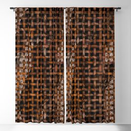 Curvy Females Mesh Abstract Blackout Curtain
