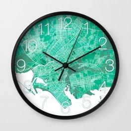 Karachi City Map of Pakistan - Watercolor Wall Clock
