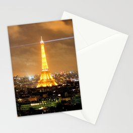 Eiffel Tower Night Landscape Stationery Cards
