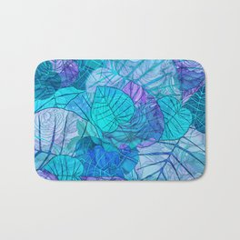 Leaves in Rosy Background 3 Bath Mat
