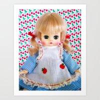 Vintage Kitsch Blonde Doll Art Print