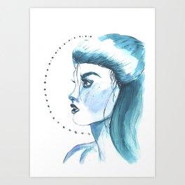 Emma Carstairs in blue Art Print