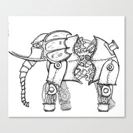 Mechephant-Steampunk Mechanical Elephant Canvas Print