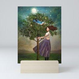 A Bluebirds Song Mini Art Print