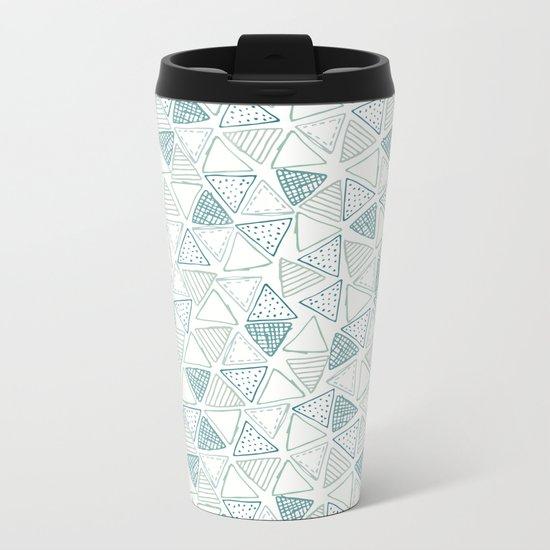 Triangular Pattern Metal Travel Mug