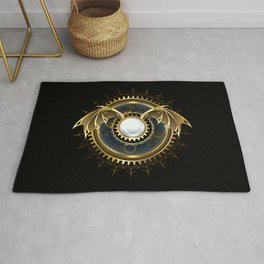 Mechanical Dragon Wings with a Lens ( Steampunk ) Rug