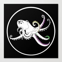 octopus Canvas Prints featuring Octopus by mailboxdisco