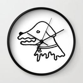 Skellie Dog Wall Clock