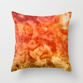 Fire Marble Throw Pillow