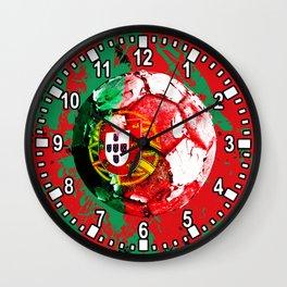 football Portugal  Wall Clock
