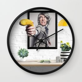 Banana Gun Business Man Wall Clock