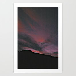 red in the sky Art Print