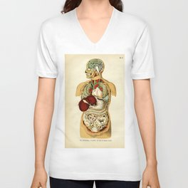 Internal organs of the Human Body Unisex V-Neck
