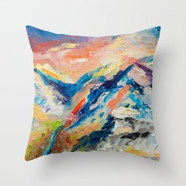 HIMALAYAN LANDSCAPE Throw Pillow