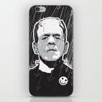 frankenstein iPhone & iPod Skins featuring Frankenstein by Matt Fontaine