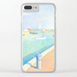 """Georges Seurat """"The Channel of Gravelines, Petit Fort Philippe"""" Clear iPhone Case"""