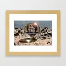 Die Strandkugel ! Framed Art Print
