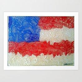 Depth of the American Flag Art Print