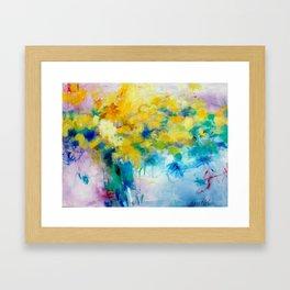 Chin Up Buttercup Framed Art Print