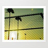 santa monica Art Prints featuring Santa Monica by Nicole Dupee