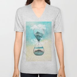 11th Hour Glass Unisex V-Neck